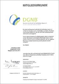Zertifikat dgnb