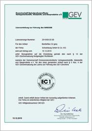 Zertifikat emicode