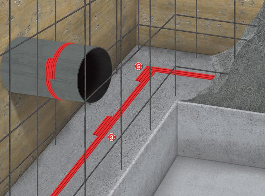 Elastomeric Sheet Waterproofing : Waterproofing construction joints with elastomeric
