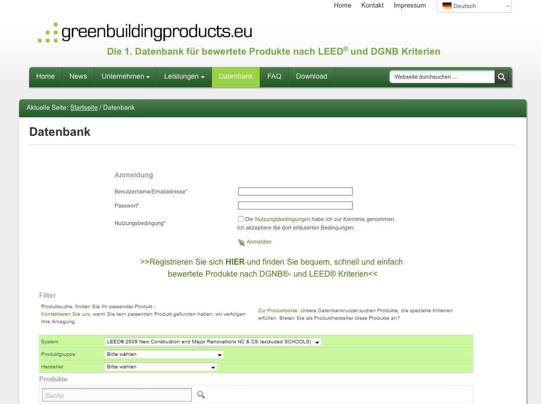schomburg produkte erf llen leed und dgnb kriterien update der greenbuilding produktdatenbank. Black Bedroom Furniture Sets. Home Design Ideas