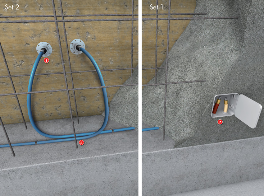 Slurry For Waterproofing Construction Joints In Pools : Waterproofing construction joints with injection tubes